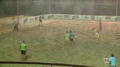 São Luís recebe fase final do Campeonato Maranhense de futebol de areia - Etapa decisiva conta com muitos gols nas duas primeiras rodadas