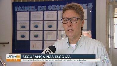 Secretário de educação do AM fala sobre ações de segurança nas escolas - Luiz Castro comenta.
