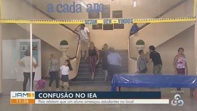Suposta ameaça de aluno em rede social gera pânico em alunos de escola no AM - Em mensagem, estudante fez alusão ao ataque ocorrido em uma escola em Suzano, em São Paulo.