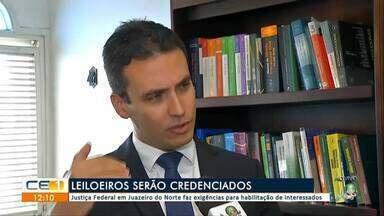 Leiloeiros serão credenciados em Juazeiro do Norte - Outras informações no g1.com.br/ce