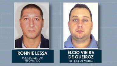 Suspeitos de matar Marielle e Anderson vão para presídio federal - Ronnie Lesa e Elcio Queiroz só voltaram para a Delegacia de Homicídios no fim da tarde desta quinta-feira (14). Por causa disso, eles não serão ouvidos no caso Marielle. O MP disse que a Justiça já determinou que os dois serão transferidos.