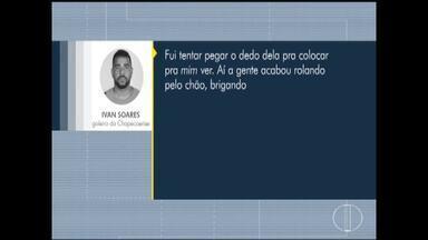 Polícia abre inquérito para apurar suposta agressão de goleiro contra ex-namorada - Caso ocorreu em Espinosa, no Norte de Minas, nesta quarta-feira (13).