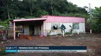 Suspeito de matar a ex-mulher em Pitanga é transferido para a delegacia - Ele estava internado e foi levado para a delegacia de Pitanga.