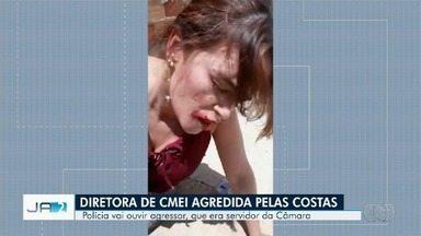 Polícia investiga agressão de diretora de Cmei por ex-assessor de vereador em Goiânia - Segundo apuração, vítima foi agredida pelas costas e autor exonerado do cargo.
