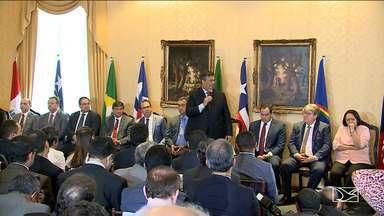Governadores do Nordeste assinam no Maranhão documento que cria consórcio entre estados - Protocolo que cria o Consórcio Nordeste foi assinado na quinta-feira (14), em São Luís.