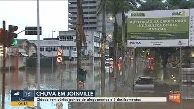 Ruas do Centro de Joinville amanhecem alagadas nesta sexta-feira (15) - Ruas do Centro de Joinville amanhecem alagadas nesta sexta-feira (15)