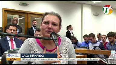 Caso Bernardo: Edelvânia diz que foi ameaçada por Graciele Ugulini - Ela negou a participação do irmão na morte do menino.