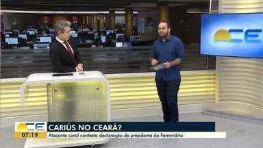 Edson Cariús contesta declaração do presidente do Ferroviário sobre ida para o Ceará - Juscelino Filho comenta os destaques do Esporte.