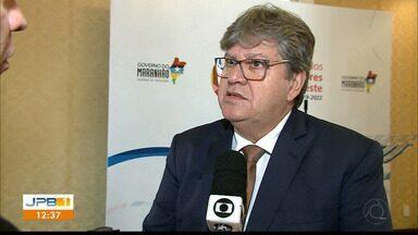 Governador da Paraíba fala sobre a 3ª fase da Operação Calvário - João Azevedo participa de um encontro com governadores do Nordeste, no Maranhão.