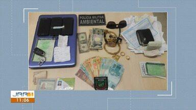 Dois homens são presos com dinheiro japonês na RR 205 - Cédulas de iene e real, além de diversos materiais usados na prática de garimpo ilegal foram encontrados com o envolvido.