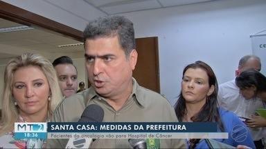 Prefeito de Cuiabá anuncia medidas para ajudar pacientes e funcionários da Santa Casa - Prefeito de Cuiabá anuncia medidas para ajudar pacientes e funcionários da Santa Casa.