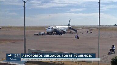 Consórcio de empresas brasileiras vence leilão de aeroportos de MT - Consórcio de empresas brasileiras vence leilão de aeroportos de MT.