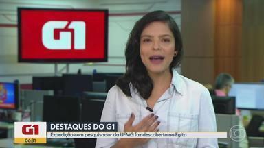 G1 MG no BDMG: equipe coordenada por pesquisador da UFMG descobre tumba no Egito - Ela estava abaixo de uma outra que estava sendo estudada pelos arqueólogos. Sete múmias foram encontradas no local.