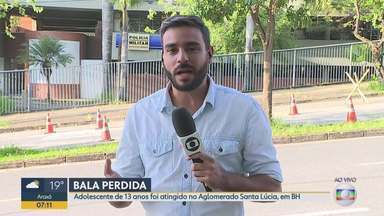 Após tiroteio entre gangues, bala perdida atinge adolescente em BH - Incidente aconteceu na noite deste domingo (17) no Aglomerado Santa Lúcia.