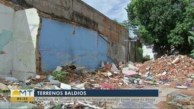 Terrenos sujos: prefeitura de Cuiabá diz que vai limpar e mandar a conta para os proprietá - Terrenos sujos: prefeitura de Cuiabá diz que vai limpar e mandar a conta para os proprietários
