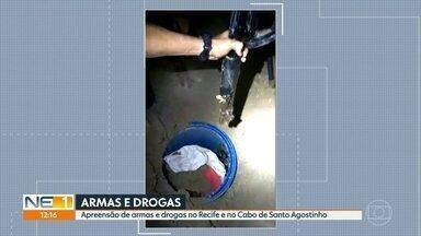 Polícia apreende fuzis, espingardas e pistolas no Cabo - Cinco pessoas foram presas suspeitas de tráfico de drogas na operação