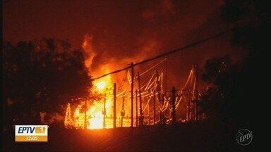 Incêndio em subestação de Itajubá deixa 11 cidades sem energia elétrica - Incêndio em subestação de Itajubá deixa 11 cidades sem energia elétrica