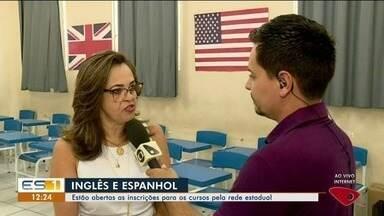 Colatina, ES, tem vagas abertas para cursos de inglês e espanhol da rede estadual - Veja quem pode participar e como fazer a inscrição.