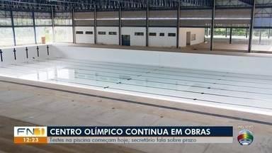 Confira os destaques do noticiário esportivo nesta segunda-feira - Obras de reforma do Centro Olímpico, em Presidente Prudente, estão atrasadas.