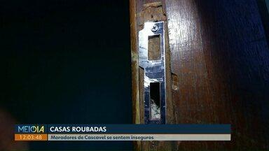 Frequentes roubos a casas têm preocupado moradores de Cascavel - Secretaria de Segurança Pública diz que não tem previsão de contratação de mais policiais.