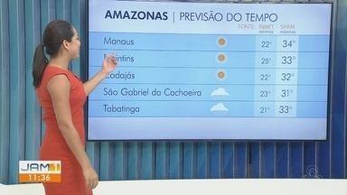 Confira a previsão do tempo no Amazonas para esta segunda-feira (18) - Karla Melo comenta.