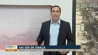 Jornalista Alexandre Farias realiza palestra em Caruaru - Evento vai ser na sexta-feira (22) no auditório do Unifavip Wyden.