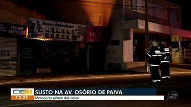 Descarga elétrica assusta moradores na Parangaba - Confira outras notícias no g1.com.br/ce