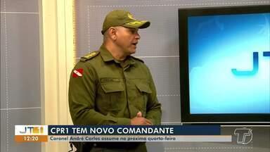 Coronel André Carlos assume comando do CPR-1 e destaca estratégias de trabalho na região - O objetivo é motivar os militares e aproximar a população para o fortalecimento do sistema de segurança pública, segundo o coronel.