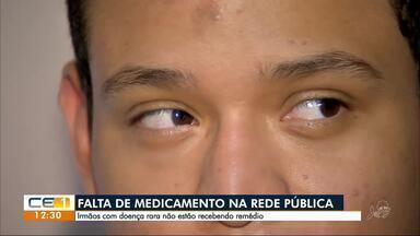 Irmãos com problemas na visão esperam receber remédio importante para o tratamento - Confira outras notícias no g1.com.br/ce