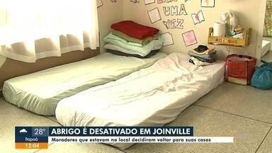 Abrigo é desativado em Joinville - Abrigo é desativado em Joinville