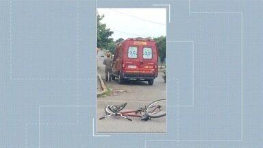 Três ciclistas são atropelados no trânsito de Corumbá, nesse fim de semana - Em Corumbá.