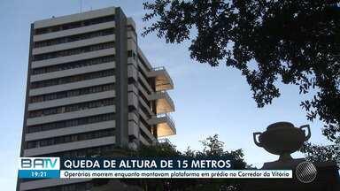 Operários morrem após elevador despencar em prédio no Corredor da Vitória - O acidente aconteceu no começo da tarde. A polícia está investigando as causas do acidente.