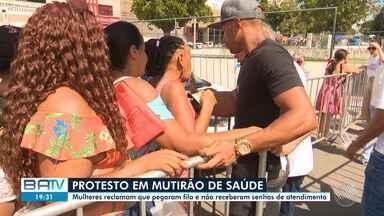 Destaques do dia: mulheres reclamam de tumulto durante mutirão de saúde em Salvador - Veja outros fatos que marcaram a segunda-feira (18).