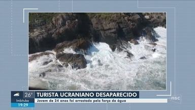 Bombeiros retomam buscas por turista da Ucrânia que se afogou em praia de Florianópolis - Bombeiros retomam buscas por turista da Ucrânia que se afogou em praia de Florianópolis