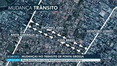 Ruas Antônio João e Assis Brasil passam ter sentido único em Ponta Grossa - Obras estão em andamento.