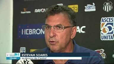 Estevam Soares comenta saída do Central - Técnico foi desligado após segunda derrota seguida.