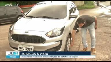 Buracos em vias de Belém dificultam trânsito e trazem dor de cabeça para motoristas - Por causa da situação das ruas, muitos motoristas precisam atentar para a manutenção dos veículos.