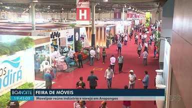 Começou em Arapongas a Feira de Móveis do Paraná - A Movelpar reúne empresários da indústria e varejo e vai até quinta-feira (21).
