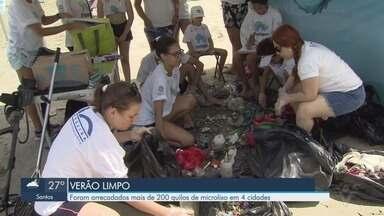 Mais de 200 Kg de microlixo são recolhidos em quatro cidades da Baixada Santista - O Projeto Verão Limpo beneficiou Santos, São Vicente, Praia Grande e Guarujá.
