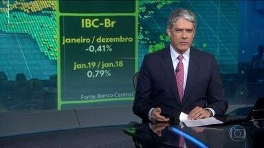 Economia brasileira recua 0,41% em janeiro na comparação com dezembro - Analistas do mercado financeiro esperavam uma queda menor, de 0,10%.