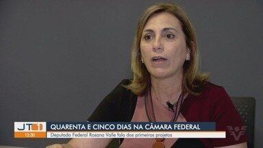 Deputada Federal Rosana Valle fala dos primeiros projetos na Câmara - Os Deputados Federais eleitos completaram os primeiros quarenta e cinco dias de mandato.