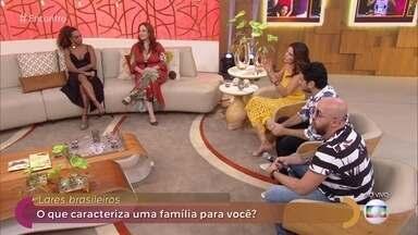 Modelo pai, mãe e filhos não é mais maioria das famílias no Brasil - Convidados falam sobre suas próprias famílias e crianças também contam qual é o significado de família para elas