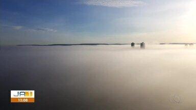Moradores enviam registros de nevoeiro que se formou pela manhã em Palmas - Moradores enviam registros de nevoeiro que se formou pela manhã em Palmas