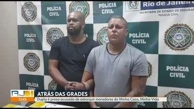 Dois homens são presos em condomínio Minha Casa, Minha Vida, em Caxias - Eles são acusados de extorquir dinheiro de moradores