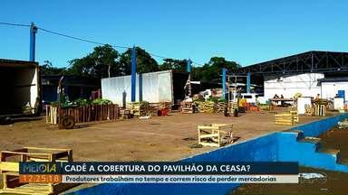 Produtores trabalham no tempo e correm risco de perder mercadorias na Ceasa - Eles estão nessa situação há três meses, desde o temporal de dezembro.