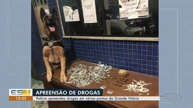 Drogas são encontradas com ajuda de cães farejadores na Grande Vitória - Segundo a polícia, no mês de março, até agora, pelo menos uma arma foi apreendida por dia em Cariacica. De janeiro até ontem, 68 armas de fogo foram apreendidas no município.