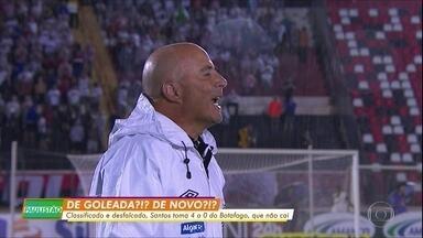 Santos sofre goleada para o Botafogo-SP - Santos sofre goleada para o Botafogo-SP
