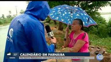 Lagoa oferece risco a moradores no litoral do Piauí - Lagoa oferece risco a moradores no litoral do Piauí