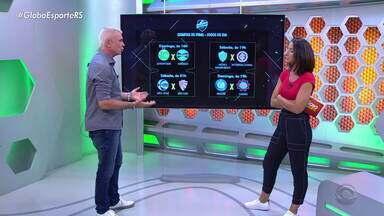 Maurício Saraiva avalia dificuldade das partidas das quartas de final do Gauchão - Assista ao vídeo.