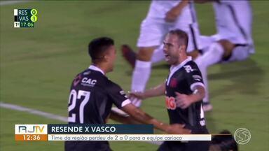 Resende perde de 2x0 para o Vasco no Raulino e segue em último no grupo C - Sem vencer na Taça Rio, time corre risco de cair.